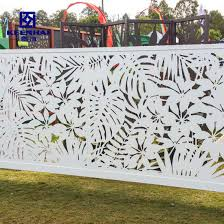 China Modern Laser Cut Decorative Design Aluminum Garden Fencing China Fence And Fence Panel Price