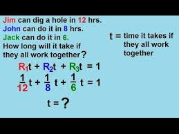 Work Word Problems More Than Two Persons Video Lessons Examples And Solutions