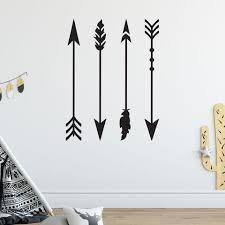 Large Boho Arrow Wall Stickers Set Zygomax