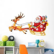 Cartoon Funny Santa His Wall Decal Wallmonkeys Com