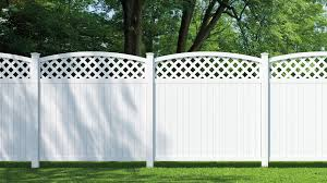 Veranda Lewiston 6 Ft H X 6 Ft W White Vinyl Arched Lattice Top Unassembled Fence Panel 128012 The Home Depot