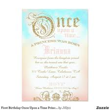 First Birthday Once Upon A Time Princess Invitation Zazzle Com