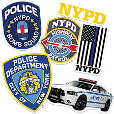 Amazon Com Nyc New York City Police And Fire Department Collectible Stickers Home Kitchen
