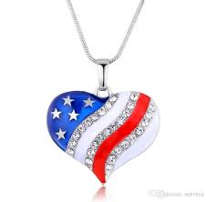 pendant necklaces crystal heart shaped