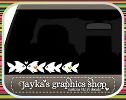 Fish Family 2 X 12 Car Decal By Jaykasgraphicsshop On Etsy 12 99 Custom Vinyl Stickers Custom Vinyl Decal Sticker Shop