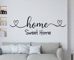 Home Sweet Home Wall Decal Family Wall Decal Home Sweet Home Sign New Home Gift