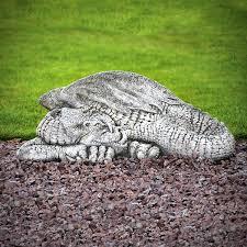 sleeping stone dragon garden statue