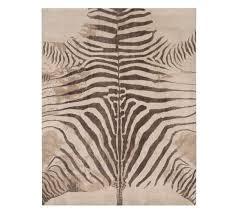 zebra printed rug pottery barn