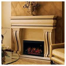 traditional built in electric fireplace