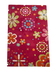 Flowers And Dots Kids Room Rug