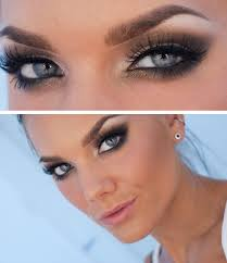prom makeup for blue eyes and brown