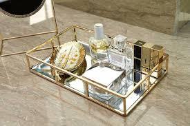 mirror vanity tray perfume bathroom