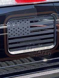 Amazon Com Elevated Auto Styling Rear Middle Window American Flag Decal Fits Ford Ranger Matte Black Kitchen Dining