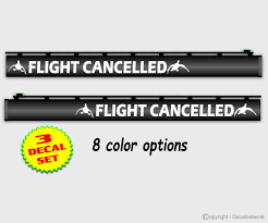 Amazon Com Flight Cancelled Gun Barrel Decal 75 X 10 Set Of 3 Stickers Choice Of 8 Colors Sports Outdoors