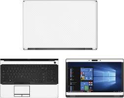 Amazon Com Decalrus Protective Decal For Dell Latitude 5580 15 6 Screen Laptop White Carbon Fiber Skin Case Cover Wrap Cfdelllatitude5580white Computers Accessories