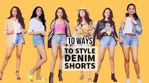 10 Ways To Style DENIM SHORTS   How to Style   Himani Aggarwal - YouTube in  2020   Denim fashion, Fashion videos, Denim