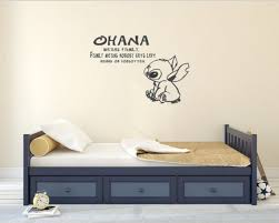 Ohana Quote Lilo And Stitch Inspired Vinyl Wall Decal Free Etsy