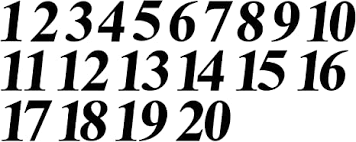 Amazon Com Matte Flat Black Numbers 1 20 Stickers Vinyl Decals Choose Size From 1 To 8 Indoor Outdoor Waterproof Times Ital V585 3 Arts Crafts Sewing