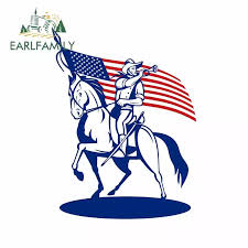 Earlfamily 13cm X 9 8cm For American Cavalry Soldier Riding Horse Car Bumper Window Stickers Vinyl Decal Suitable For Van Rv Car Stickers Aliexpress