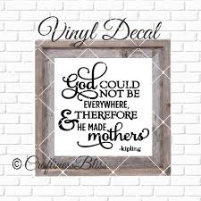 Vinyl Decal For Glass Blocks Diy God Could Not Be Everywhere So He Made Mothers Vinyl Decal Glass Block Car Decal Mirror Ceramic Tile Puter Equalmarriagefl Vinyl From Vinyl Decal For