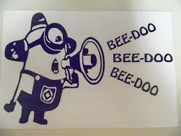 Minion Despicable Me Beedoo Funny Car Truck Window Vinyl Decal Sticker Car Stickers Funny Vinyl Decal Stickers Vinyl Car Stickers