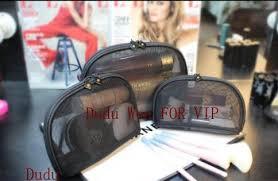 fashion black mesh zipper bag elegant