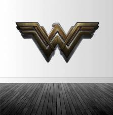 Wonder Woman Logo Wonder Woman Decal Vinyl Wall Decal Super Hero Decal Infinite Graphics Wonder Wom Wonder Woman Wall Art Superhero Bedroom Bedroom Decals