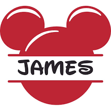 Disney Mickey Mouse Red Mickey Customized Wall Decal Custom Vinyl Wall Art Personalized Name Baby Girls
