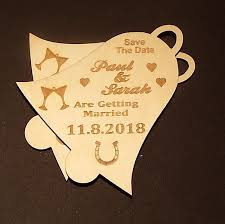 save the date wedding magnets bell shaped