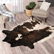 beige cowhide rug wayfair