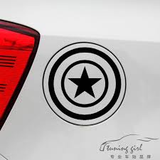 Car Stickers Captain America Marvel Avengers Funny Decals Decoration For Fuel Tank Cap Windshield Auto Tuning Styling D50 Car Stickers Aliexpress