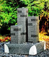 granite stone solar water fountain