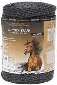 Electrobraid Pbrc1000b2 Eb Horse Fence Conductor Reel 1000 Black Amazon Ca Patio Lawn Garden