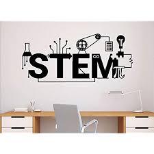 Stem Wall Decal Science Vinyl Sticker Science Technology Engineering Mathematics Decor Classroom Interior 64n Amazon Com
