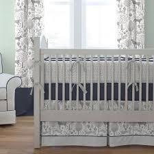 navy and gray woodland crib comforter