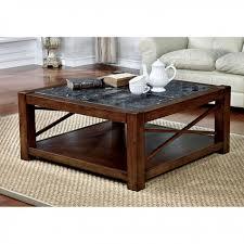 rani brown cherry square coffee table