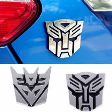 Transformers Car Decoration Sticker Logo Zinc Alloy 3d Autobot Decepticon Emblem Badge Decal Truck Car Styling Transformers Stickers Wish
