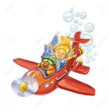 Soportar El Piloto Y La Pequena Nina De Los Viajes Por Avion Una