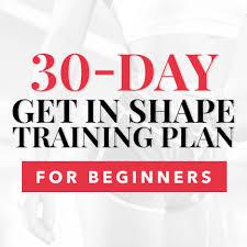 shape training plan for beginners