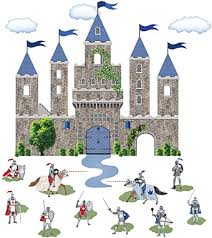 Amazon Com Large Medieval Castle Wall Decal With Knights Decals Removable Wall Stickers Arts Crafts Sewing
