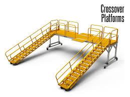 Conveyor Crossovers Crossover Platforms Crossover Ladders Modular Crossover Platforms Stair Crossovers Vertical Climb Crossovers Step Over Conveyor Crossovers
