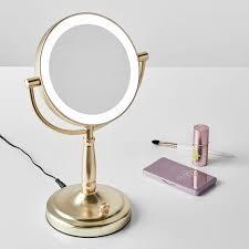 gold light up vanity makeup mirror