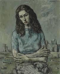John Minton: 'Portrait of Myra Davis', 1940 | John minton, Figure ...