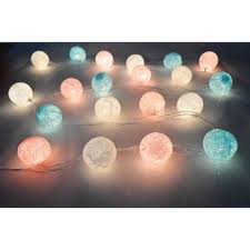 5m 20led cotton ball patio party string