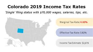 colorado income tax rate and brackets 2019