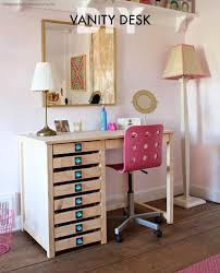 diy vanity desk with modern hardware