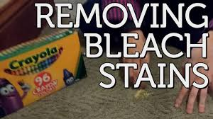 removing bleach sns from carpet