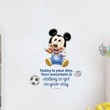 Design With Vinyl Your Day Baby Mickey Mouse Cartoon Quotes Decors Wall Sticker Art Design Decal For Girls Boys Kids Room Home Decor Wall Art Vinyl 10x8 Inch Wayfair