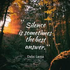 dalai lama quote about silence