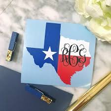 Texas Monogram Decal Texas Car Decal Texas Yeti Decal Etsy